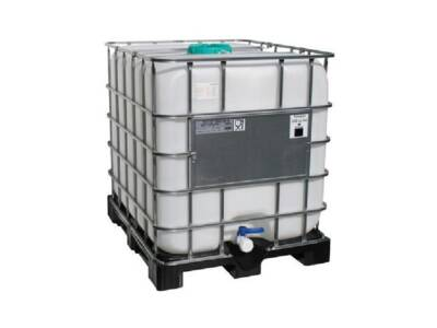 IBC 1000 l FDA container on plastic pallet